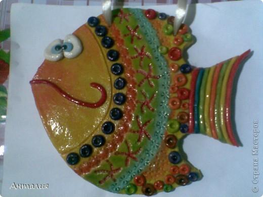 акварельная рыбка