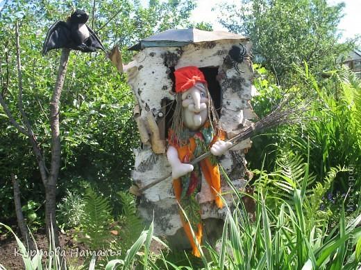 Вот такая Баба Яга живет у нас в саду летом  фото 2