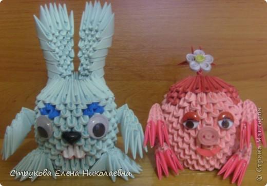 Поделка изделие Оригами китайское модульное Герои мультфильмов Бумага фото 6