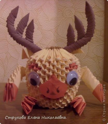 Поделка изделие Оригами китайское модульное Герои мультфильмов Бумага фото 4