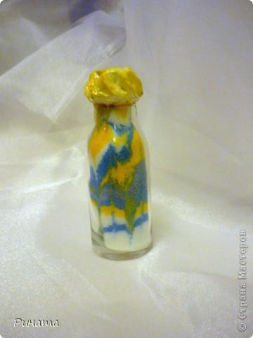 Вот мои насыпушки из цветной соли Спасибо большое Мастер-классу Kukushechka по соли http://stranamasterov.ru/node/45983?tid=451  фото 3