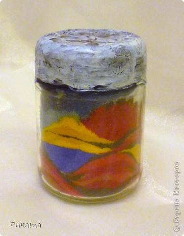 Вот мои насыпушки из цветной соли Спасибо большое Мастер-классу Kukushechka по соли http://stranamasterov.ru/node/45983?tid=451  фото 6