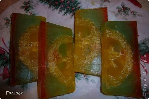 цитрусовое мыло с люфой фото 1