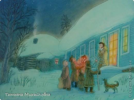 Рождество прекрасный праздник, любимым всеми! Это сейчас мы наряжаем елку к  Новому году, а раньше ее наряжали к Рождеству. Новый год отмечали позднее. Елку наряжали  без детей. На открытке изображен момент, когда открылись двери в гостиную и дети увидели елку во  всем красе. Как наряжали елку, что дарили детям, прекрасно видно на открытке. фото 6
