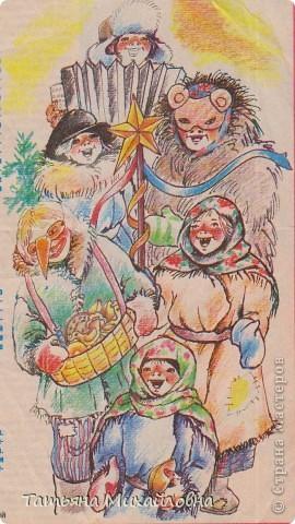 Рождество прекрасный праздник, любимым всеми! Это сейчас мы наряжаем елку к  Новому году, а раньше ее наряжали к Рождеству. Новый год отмечали позднее. Елку наряжали  без детей. На открытке изображен момент, когда открылись двери в гостиную и дети увидели елку во  всем красе. Как наряжали елку, что дарили детям, прекрасно видно на открытке. фото 8