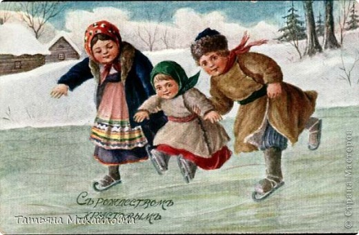 Рождество прекрасный праздник, любимым всеми! Это сейчас мы наряжаем елку к  Новому году, а раньше ее наряжали к Рождеству. Новый год отмечали позднее. Елку наряжали  без детей. На открытке изображен момент, когда открылись двери в гостиную и дети увидели елку во  всем красе. Как наряжали елку, что дарили детям, прекрасно видно на открытке. фото 4