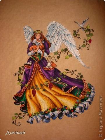 Вышивка крестом Лесная фея