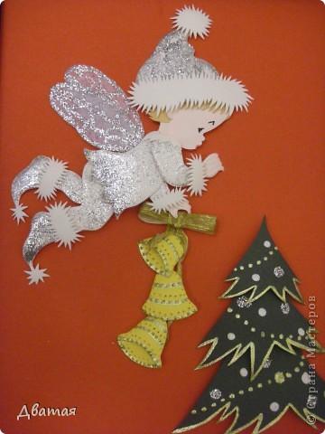 Под самый Новый год я получила ещё один подарок, у меня случился ещё один праздник души! Из города Пензы ко мне прилетел Ангелочек от Лизы, с новогодними пожеланиями и чудесным новогодним настроением!  фото 1