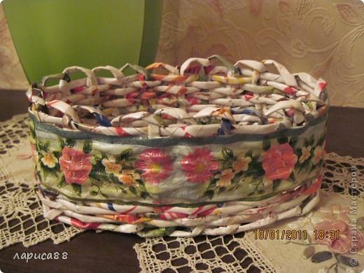 Вот такой набор плетенок для хранения косметики я сделала для себя. фото 2