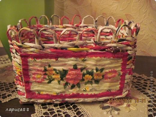 Вот такой набор плетенок для хранения косметики я сделала для себя. фото 3