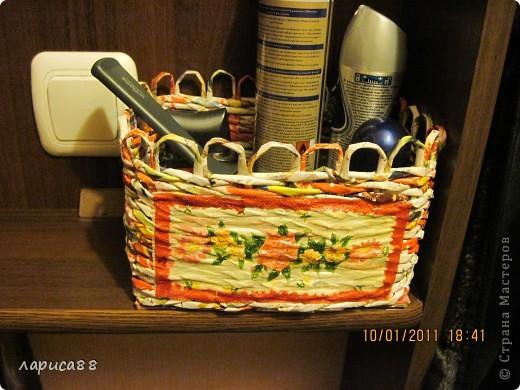 Вот такой набор плетенок для хранения косметики я сделала для себя. фото 6