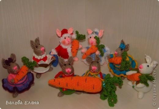 Новогодние зайки - малыши. фото 1