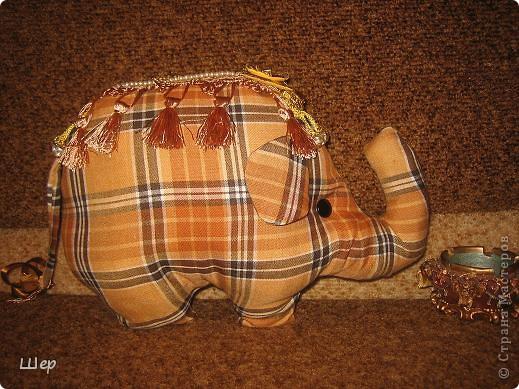 Слоник - диванная подушка фото 1