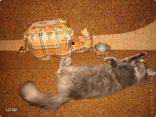 Слоник - диванная подушка фото 3