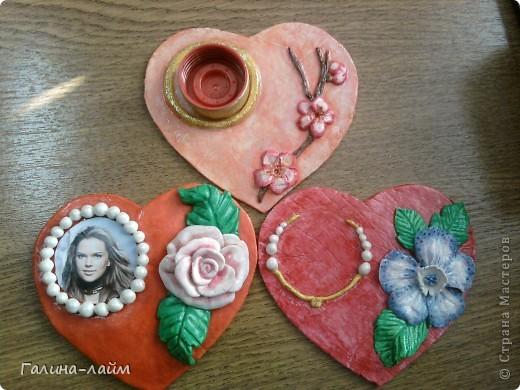 Сердечки можно использовать как подсвечник для свечи-таблетки ( у меня ее нет) или как мини-фоторамку. фото 1