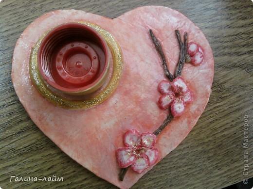 Сердечки можно использовать как подсвечник для свечи-таблетки ( у меня ее нет) или как мини-фоторамку. фото 4