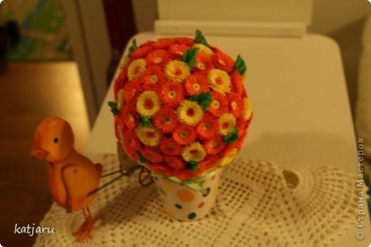 Оранжевый цветочный шар фото 2