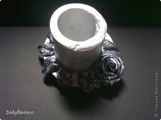 Бутылка первая, пробная, в технике жженный декупаж фото 4