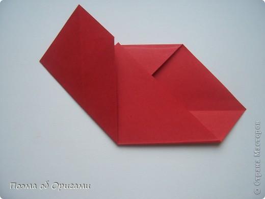 Этому мишке, трепетно прижимающего к себе большое красное сердце без труда удасться передать нежность влюбленного сердца. Для коробочки потребуется два квадрата одинакового размера (в данном случае 20х20см): для медведя - один квадрат, такого же размера, как и для коробки. Дополнительно потребуется квадрат 1/4 от такой величины. фото 51