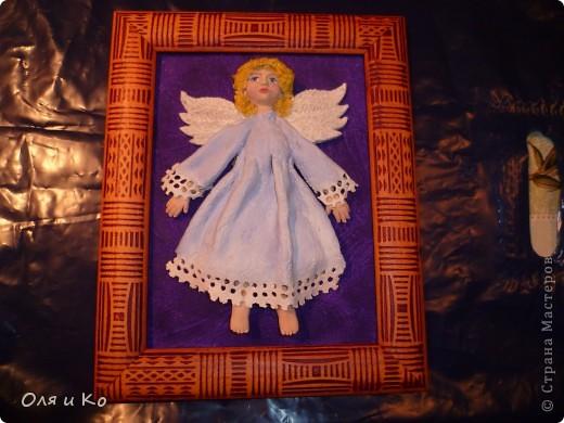 Этого ангелочка я сделала бабушке в подарок на Рождество фото 2