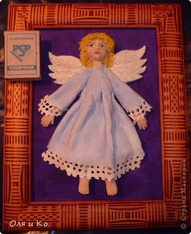 Этого ангелочка я сделала бабушке в подарок на Рождество фото 4