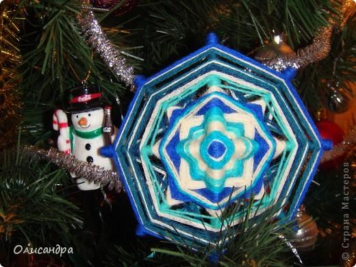 """Новый год уже наступил,а я все """"снежинки"""" делаю... Правда, начала  делать еще в прошлом году, но что-то не заладилось и она попала в """"долгий ящик"""".... фото 3"""