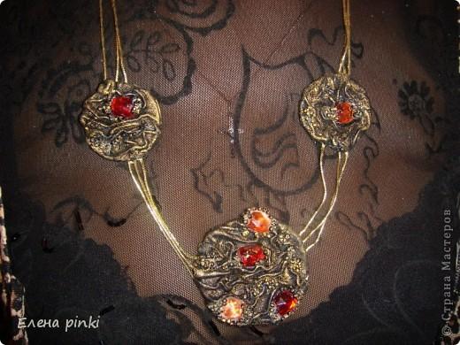 комплект из натуральной кожи: браслет и подвеска фото 4