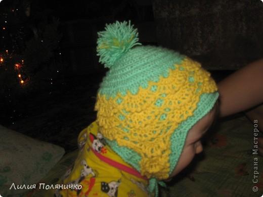 Вот такая шапочка связалась моей малышке буквально за дня три (с перерывами на домашние дела) фото 3