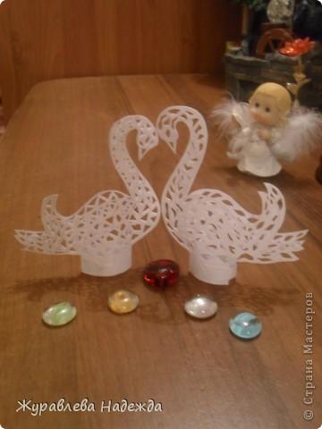 скоро у сестры свадьба, вот думаю сделать таких лебедей. фото 3