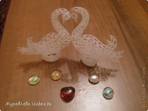 скоро у сестры свадьба, вот думаю сделать таких лебедей. фото 1