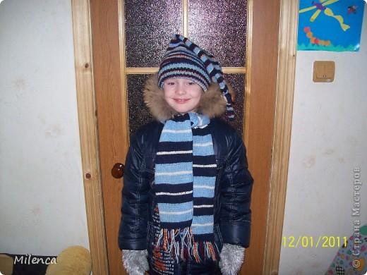 Шапочки и шарфики фото 1