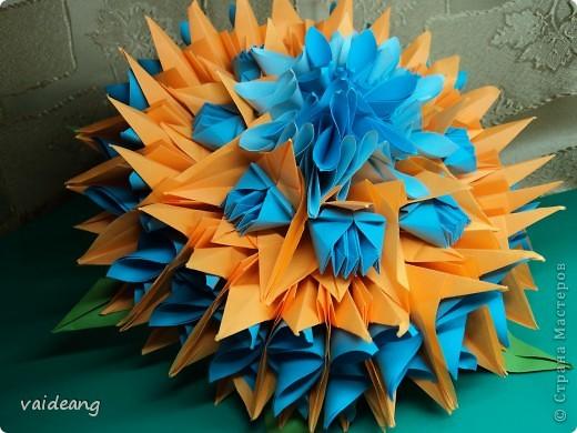 Чудо-юдо бумажный цветок-тортик фото 1