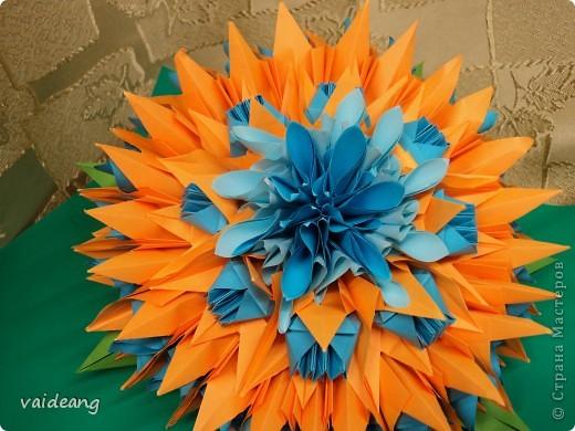 Чудо-юдо бумажный цветок-тортик фото 3