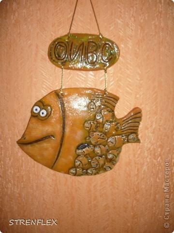 Эта рыбка-мамочка была сделана по МК ANAID, за что ей огромное спасибо! Рыбка была сделана в подарок заведующей моей кафедрой. А маленькие рыбешки это все сотрудники нашей кафедры. фото 10