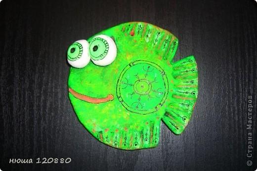 Это моя первая рыбка - посвящается ANAID !!!! Спасибо ANAID http://stranamasterov.ru/user/14093 !!!! (раскраска сделана по anaid) и форма рыбки по этой    http://stranamasterov.ru/user/41885   фото 3