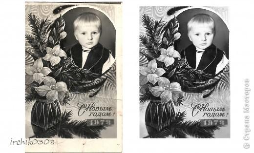 Обнаружила у свекрови детские фотографии мужа в очень непотребном виде ... Их и так совсем немного... забрала, решила реанимировать.  фото 2