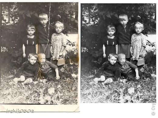 Обнаружила у свекрови детские фотографии мужа в очень непотребном виде ... Их и так совсем немного... забрала, решила реанимировать.  фото 4