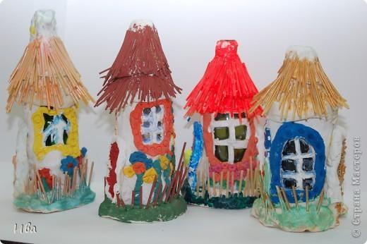 Общяя фотография домиков. Работы детей в возросте 6-8 лет.  фото 3