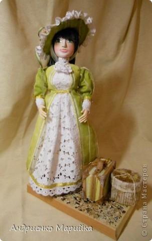 """Вот и появилась наконец то моя вторая кукла...Честно признаюсь, замысел был совсем другой...и где то на середине кукла стала """" рулить"""" мной)),не смогла я сопротивляться)) фото 2"""