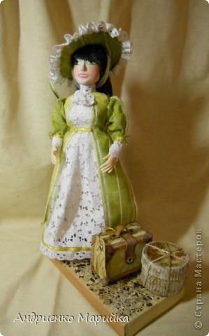 """Вот и появилась наконец то моя вторая кукла...Честно признаюсь, замысел был совсем другой...и где то на середине кукла стала """" рулить"""" мной)),не смогла я сопротивляться)) фото 1"""
