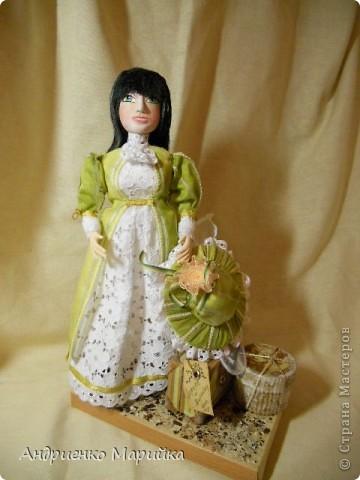 """Вот и появилась наконец то моя вторая кукла...Честно признаюсь, замысел был совсем другой...и где то на середине кукла стала """" рулить"""" мной)),не смогла я сопротивляться)) фото 9"""