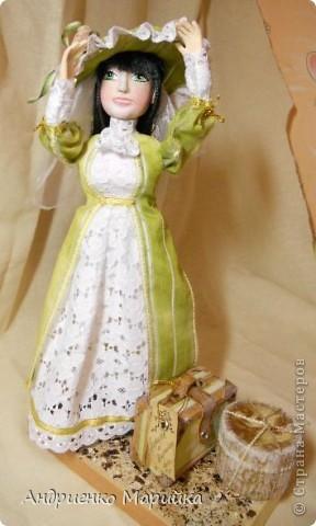 """Вот и появилась наконец то моя вторая кукла...Честно признаюсь, замысел был совсем другой...и где то на середине кукла стала """" рулить"""" мной)),не смогла я сопротивляться)) фото 5"""