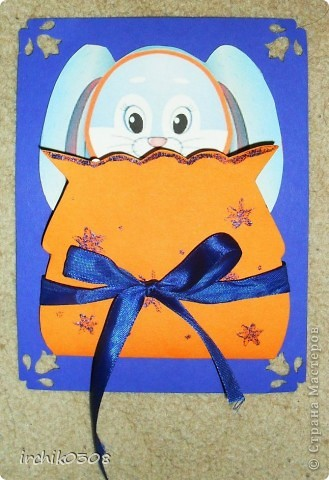 Это лицевая часть новогодней открытки, картинка раскрашена акварельными карандашами, мои дочка и сынок (символично для бабушки и деда).Прикрепила на брадс.  фото 2