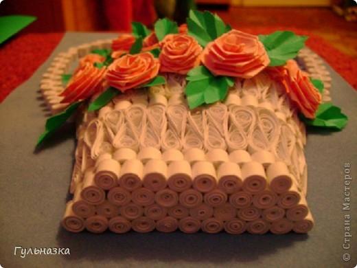 Вот такая корзиночка с розами. Закончала только что и не удержалась захотелось похвастаться))))))))))))))) Рамки пока нет. фото 2