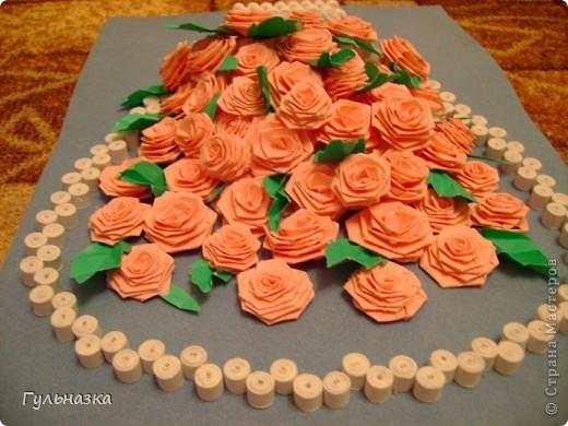 Вот такая корзиночка с розами. Закончала только что и не удержалась захотелось похвастаться))))))))))))))) Рамки пока нет. фото 5