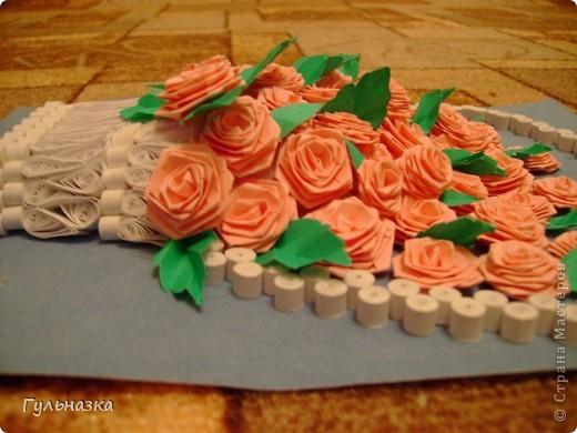 Вот такая корзиночка с розами. Закончала только что и не удержалась захотелось похвастаться))))))))))))))) Рамки пока нет. фото 4