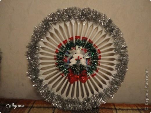 Решила сделать парочку новогодних панно из вилок фото 2