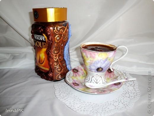 """Даже холодной зимой всегда согреет и порадует чашечка кофе из такой чудесной баночки. Вариант """"Зима"""". фото 5"""