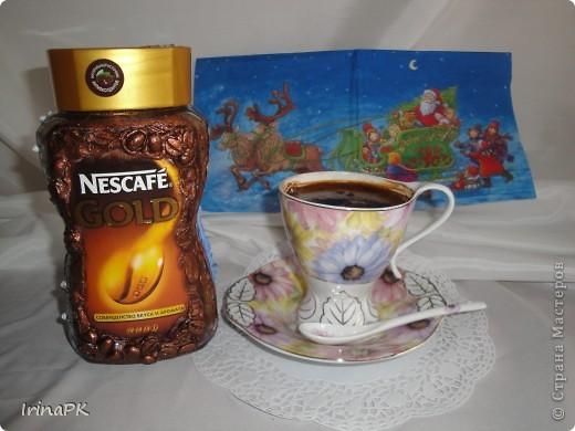 """Даже холодной зимой всегда согреет и порадует чашечка кофе из такой чудесной баночки. Вариант """"Зима"""". фото 4"""