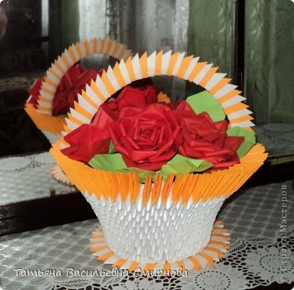 модульное Корзина роз